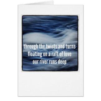 Cartão da viagem da demência: Jangada do amor