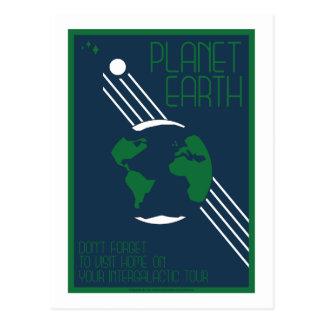 Cartão da viagem espacial - terra