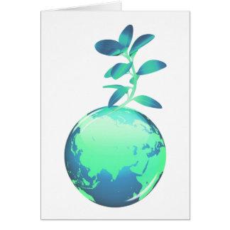 Cartão da vida vegetal