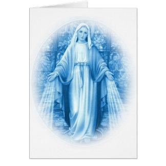 Cartão da Virgem Maria