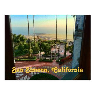 Cartão da vista para o mar de San Simeon