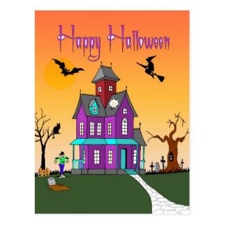 Cartão da vizinhança do Dia das Bruxas