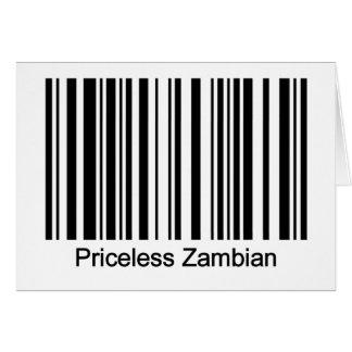 Cartão da Zâmbia