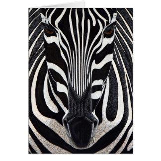 Cartão da zebra