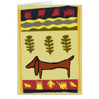 Cartão Dachshund da montanha