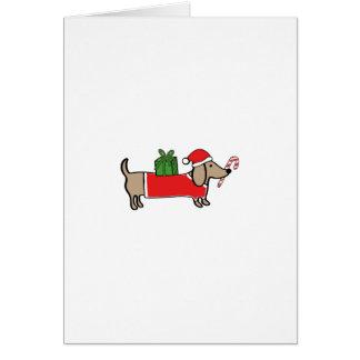 Cartão Dachshund do Natal