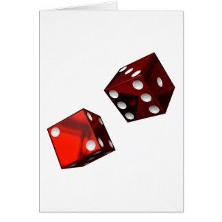 Cartão Dados vermelhos