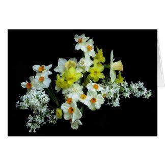 Cartão Daffodils e Lilacs