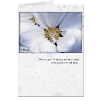 Cartão Dália branca pelo Wight de Anna
