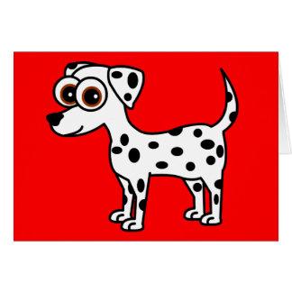 Cartão Dalmatian bonito dos desenhos animados