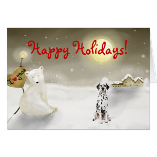 Cartão Dalmatian do feriado