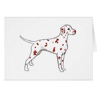 Cartão Dalmatian do fígado