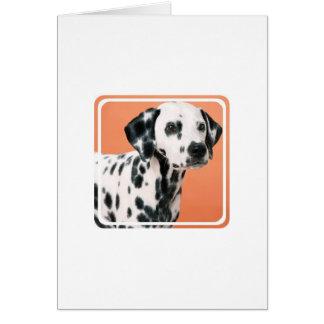Cartão Dalmatian dos filhotes de cachorro