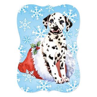 Cartão Dalmatian feliz de Howlidays