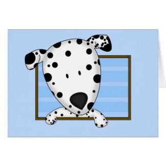 Cartão Dalmatian quadro dos desenhos animados