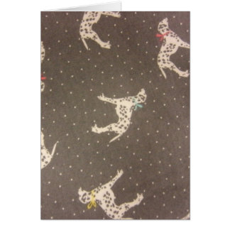 Cartão Dalmatians com arcos