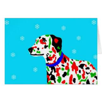 Cartão dalmation do Natal