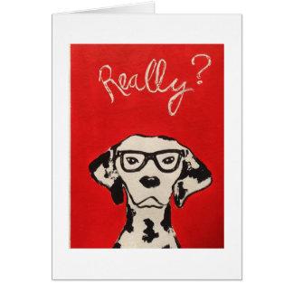 Cartão Dalmation no vermelho