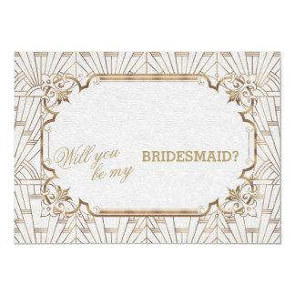 Cartão Dama de honra do casamento de dezembro da arte de