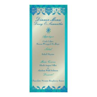 Cartão Damasco do vendome do azul de pavão de PixDezines,