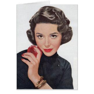 Cartão Dana Wynter com o bracelete da maçã e do cobra