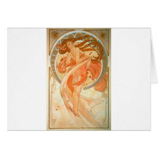 """Cartão """"Dança"""" - arte Nouveau - Alphonse Mucha"""