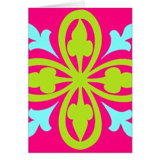 Cartão Dança cor-de-rosa