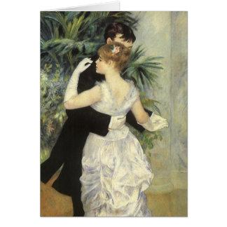Cartão Dança da cidade por Pierre Renoir, belas artes do