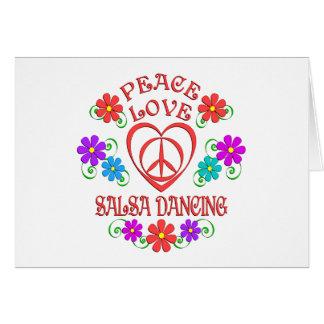 Cartão Dança da salsa do amor da paz