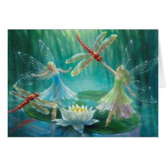 Cartão Dança das libélulas vermelhas