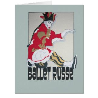 Cartão Dança de Russe do balé!