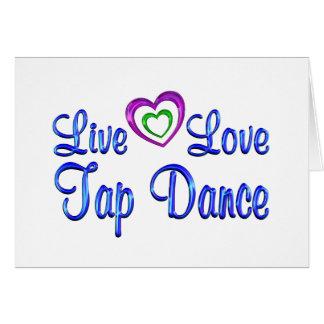 Cartão Dança de torneira viva do amor