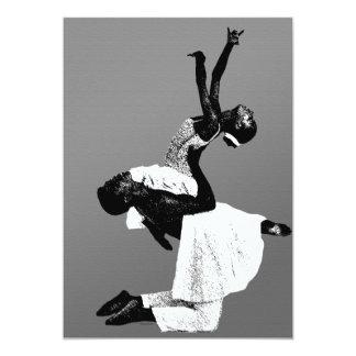 Cartão Dança do afro-americano