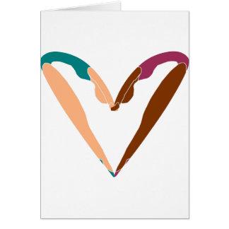 Cartão DANÇA do coração, dança do AMOR