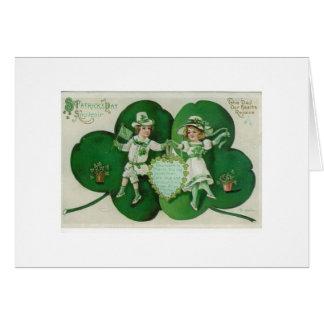 Cartão Dança do dia de St Patrick