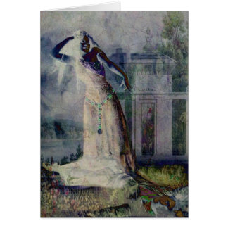 Cartão Dança do vampiro no Dia das Bruxas