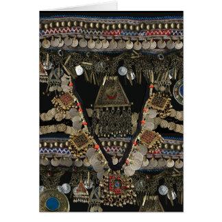 Cartão Dança do ventre tribal de Kuchi