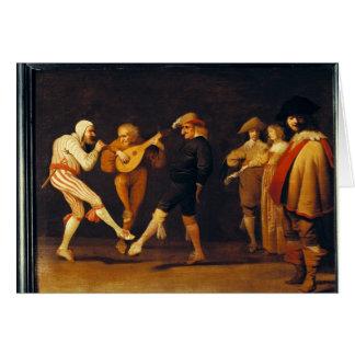 Cartão Dança dos atores da farsa