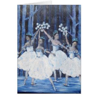 Cartão Dança dos flocos de neve mim balé do Nutcracker