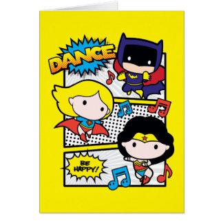 Cartão Dança dos heróis de Chibi