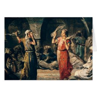 Cartão Dança dos lenços, 1849