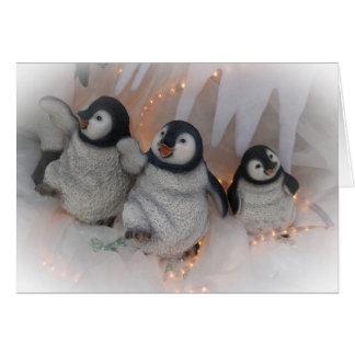 Cartão Dança dos pinguins do Natal