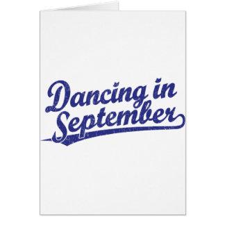 Cartão Dança em setembro no azul