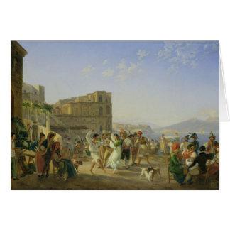 Cartão Dança italiana, Nápoles, 1836