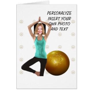 Cartão Dança Pilates da ioga, WishCard engraçado - foto &