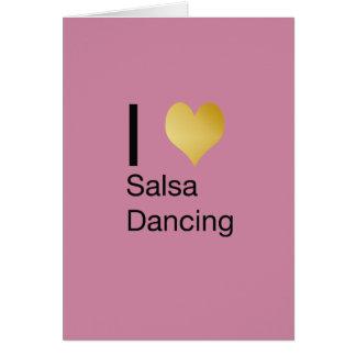 Cartão Dança Playfully elegante da salsa do coração de I