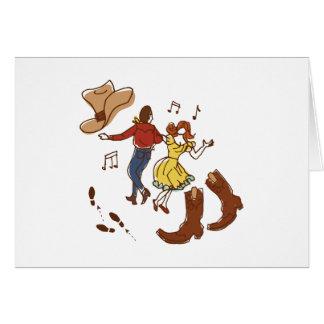 Cartão Dança quadrada