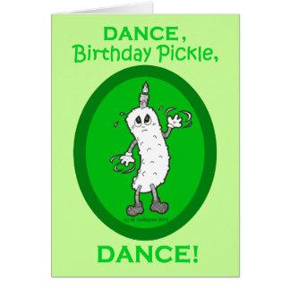 Cartão Dança, salmoura do aniversário, dança!