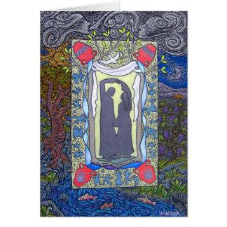 Cartão Dançaram no casamento em Cana