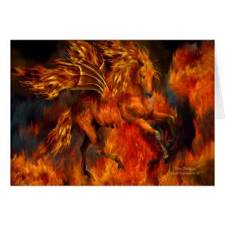 Cartão Dançarino ArtCard do fogo